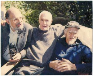This Polaroid photo, taken Easter Sunday 1991, shows (from left) Allen Ginsberg, Timothy Leary and John C. Lilly, M.D. (Photo By Philip H. Bailey, via Wikimedia Commons)
