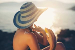 Sunscreen is important year-round. (photo by adriaticfoto)